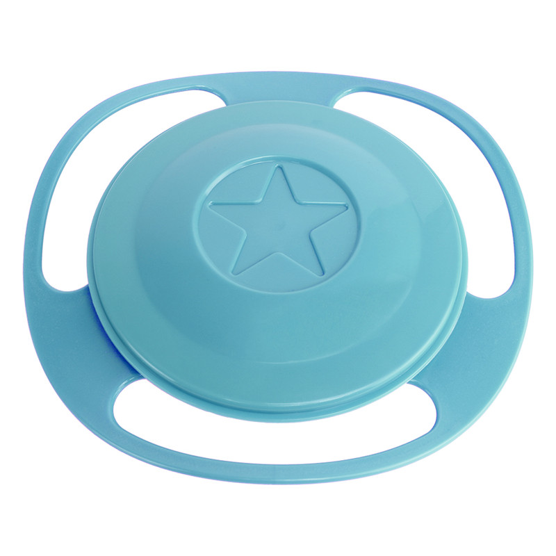 Hot Sale Design Universal Gyro Bowl Dishes Anti Spill Bowl Smooth 360 Degrees Rotation Gyroscopic Bowl For Baby Kids