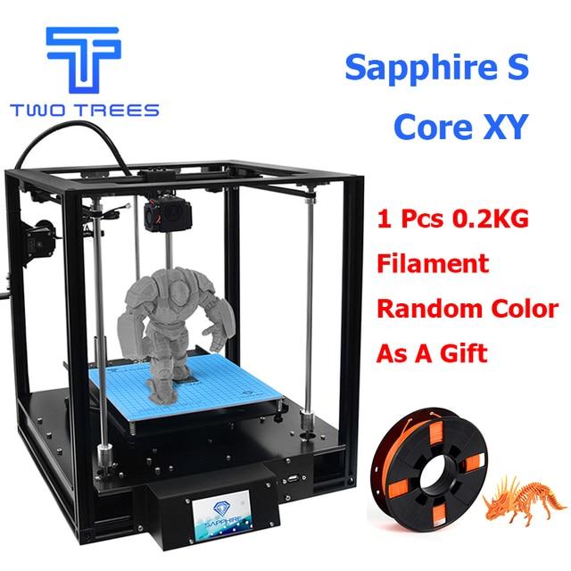 Dos árboles de alta precisión 3D impresora zafiro S CoreXY automático de nivelación de perfil de aluminio MARCO DE GRAN Kit de bricolaje Core XY estructura