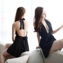 Women Sexy Lingerie Costume Night Dress Sleepwear Teddy Backless Lady Nightgown sleepshirt