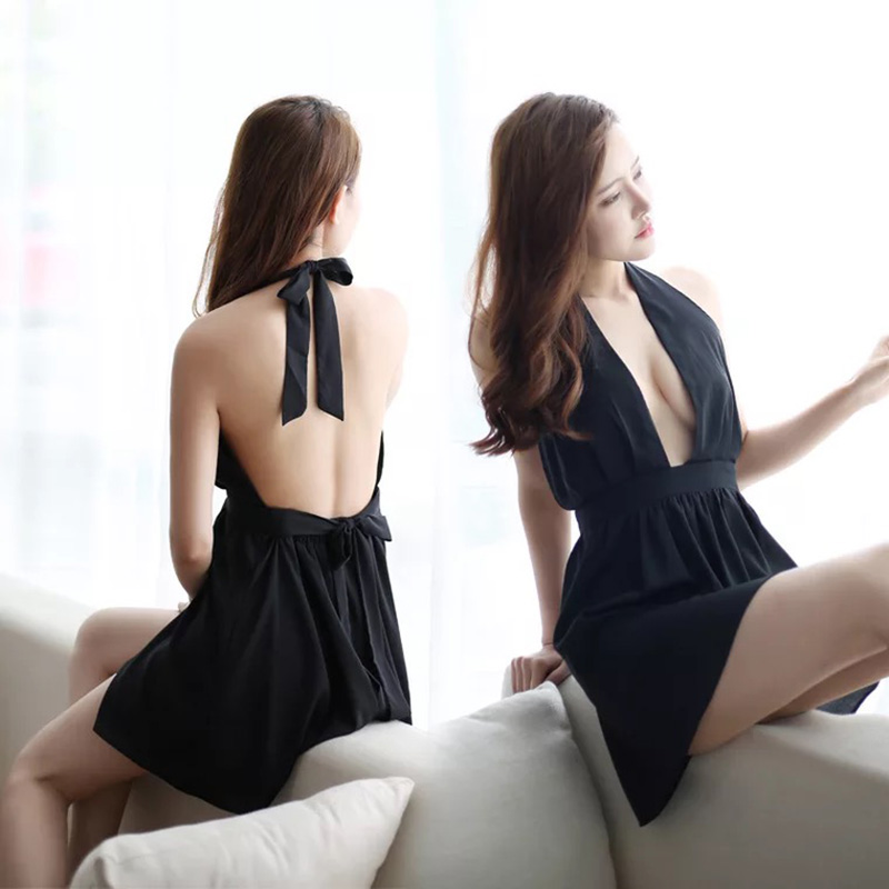 Women Sexy Lingerie Costume Night Dress Sleepwear Teddy Lingerie Sexy Backless Lady   Nightgown     sleepshirt