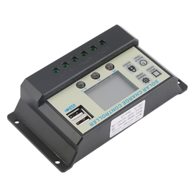 10A 12V 24V Solar Panels Battery Charge Controller 10Amps Lamp Regulator Suitable for Small Solar Energy System Battery Hot Sale