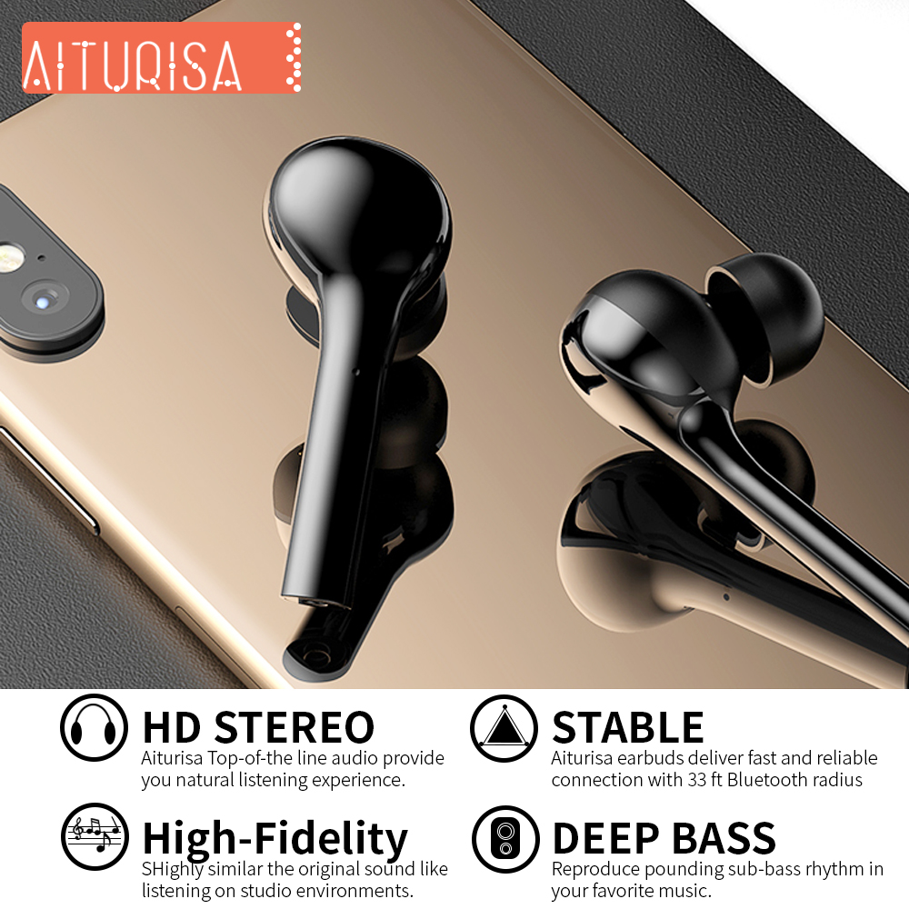 Image 3 - Bluetooth 5.0 Headphones 3D Deep Bass Wireless Earphone HIFI Earpiece Built in Mic With Portable Charging Box For all Smartphone-in Bluetooth Earphones & Headphones from Consumer Electronics