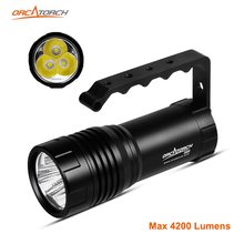 ORCATORCH Underwater Video Photo Light 40W Rechargeable 4200lm Handheld Diver Light LED Technical Diving Torch 150M