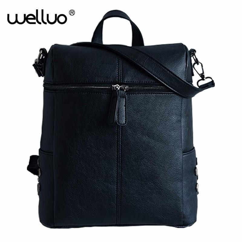 2016 Vintage Women Backpacks Pu Leather School Bags For Teenagers Girls Laptop Backpacks Travel Bagpack Mochila Feminina  XA346B