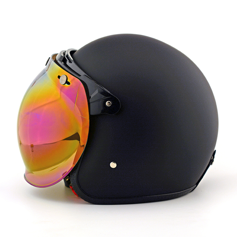 Vintage casque de Moto bulle lentille bouclier pilote casque visière Jet rétro Scooter Moto casques bulle visière lunettes