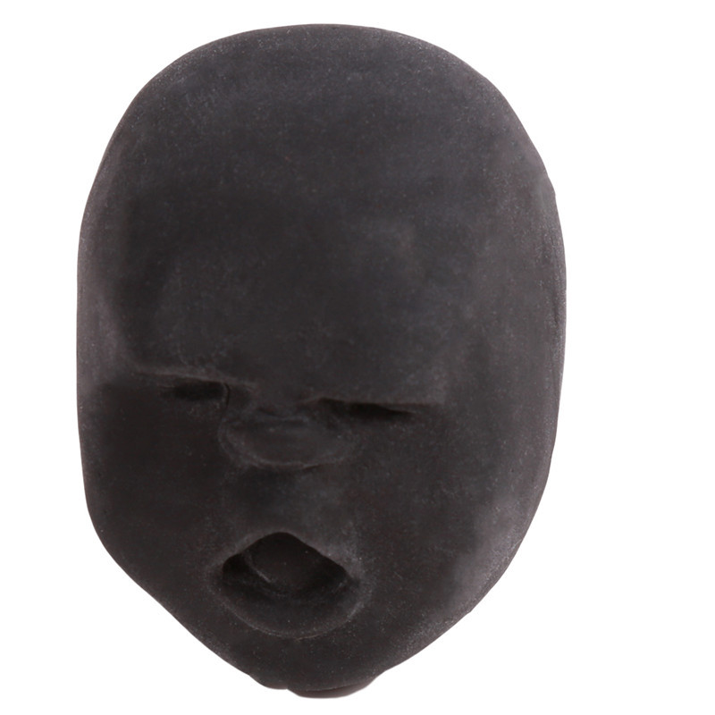 Забавная Новинка каомару, антистрессовая игрушка с мячом, с человечеловеческим лицом, удивище, сюрприз, эмоция, шар из смолы, расслабляющая, для взрослых, игрушка для снятия стресса, подарок - Цвет: Black 4