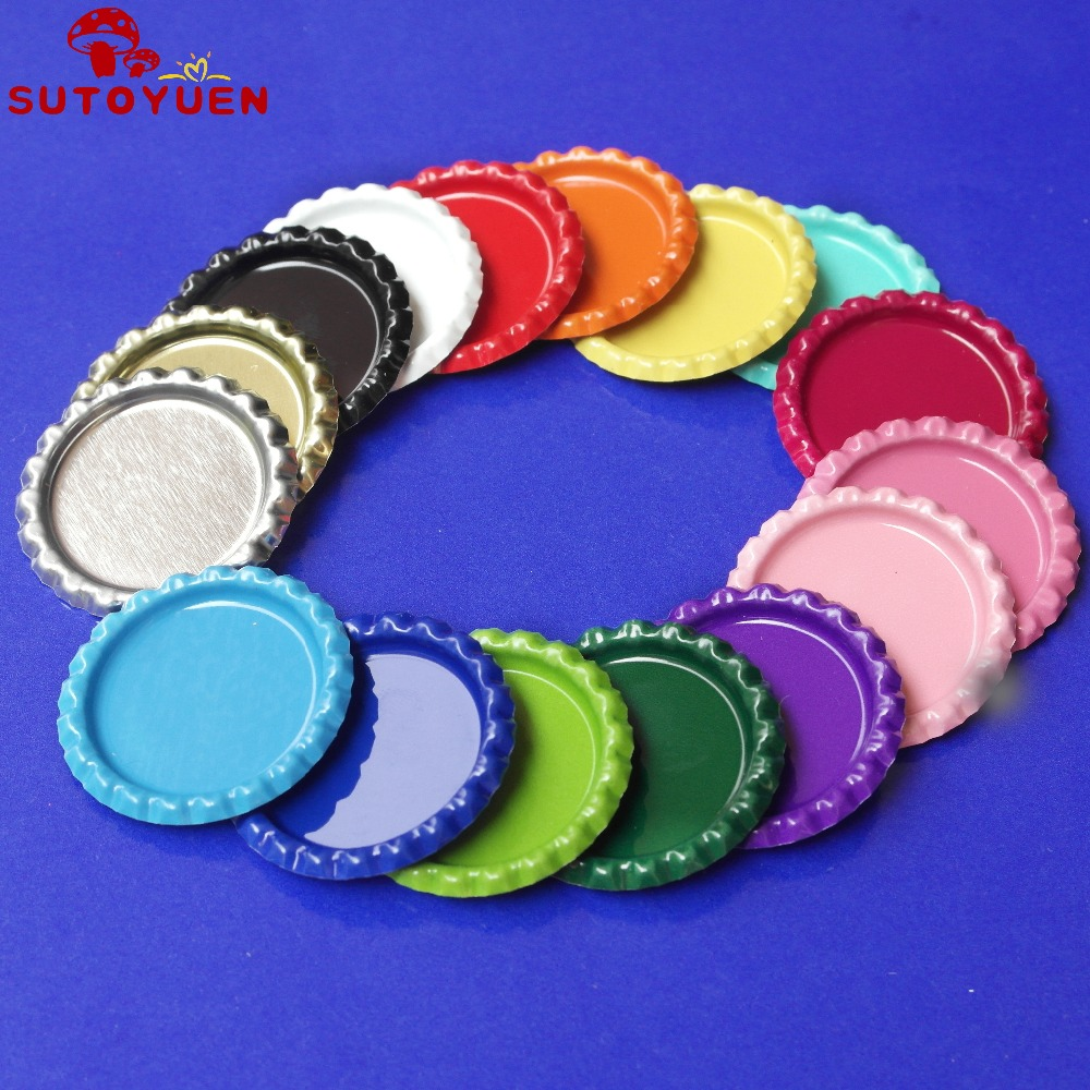 Wholesale 20000 pcs flattened 1 chrome tinplate bottle for Wholesale bottle caps for crafts