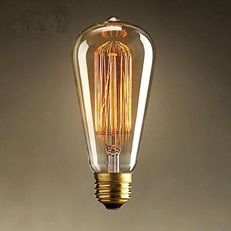 Retro LED Light Bulb,ST64 Vintage Edison Bulb,E27 Incandescent Bulb 110V/220V 25W/60W Filament Lamp for Home/Holiday/Decoration