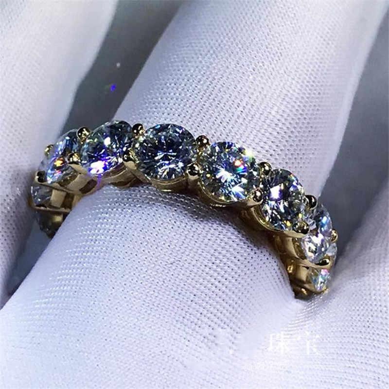 3 цвета кольцо на палец круглый 4 мм Sona Циркон cz желтое золото заполненный 925 серебро Enage для мужчин t обручальное кольцо кольца для мужчин и женщин ювелирные изделия