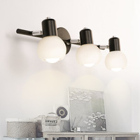 Decorated 2/3 head mirror headlights led bathroom mirror cabinet lamps Nordic simple modern wall lamp washstand lamps