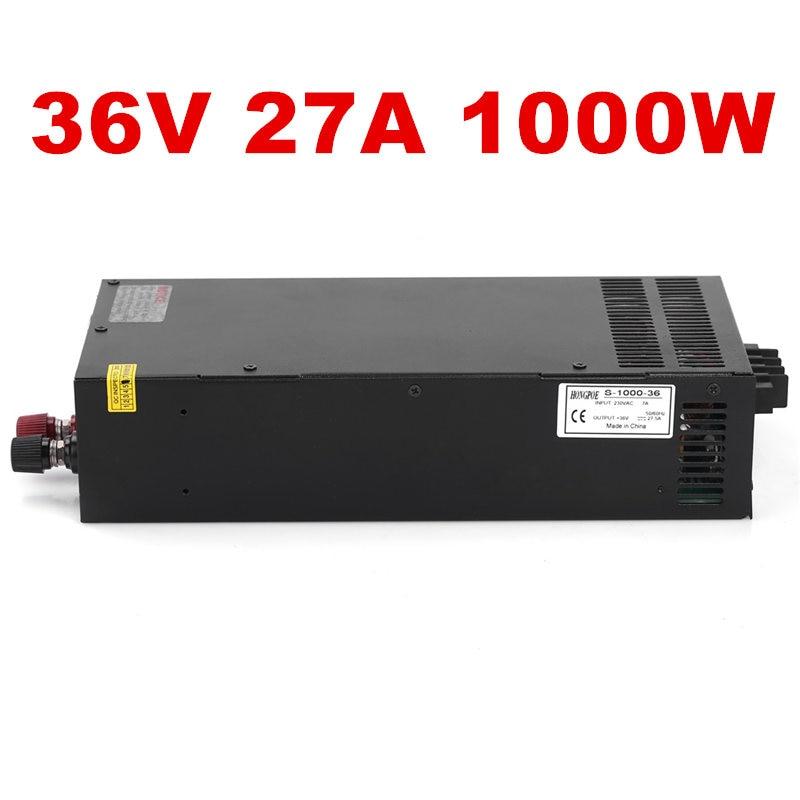 лучшая цена Wholesale 5pcs Industrial grade power supply 800W 36V Power Supply 36V 27.5A AC-DC High-Power PSU 800W S-800-36 36V27.5A