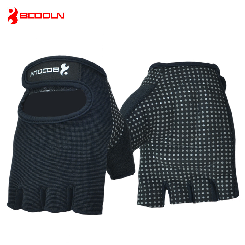 Boodun Men Women Gym Training Gloves Sports Crossfit Fitness Equipment Weight Lifting Anti Slip Dumbbell Barbell Guantes Luvas
