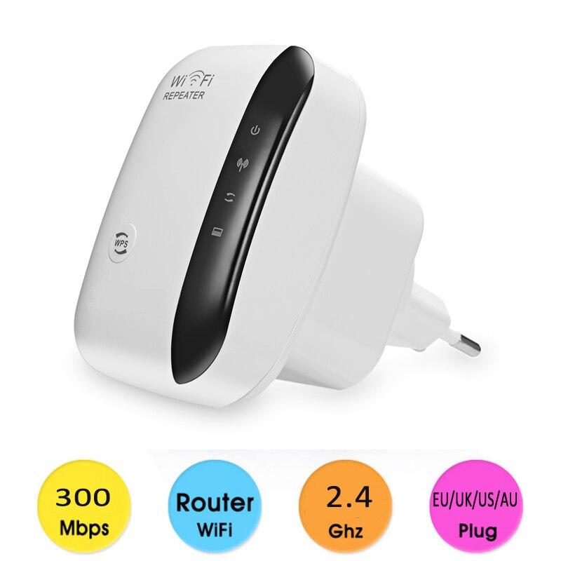 300Mbps WiFi Repeater Wireless Range Extender Booster WPS Wireless AP Strengthen Wifi Extend Wirelss Coverage AU/EU/US/UK Plug