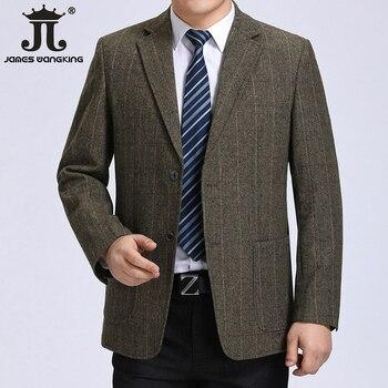 2019 new arrival high quality wool smart plaid casual blazer men,men's casual suits,men's jackets plus | Size S-XXL