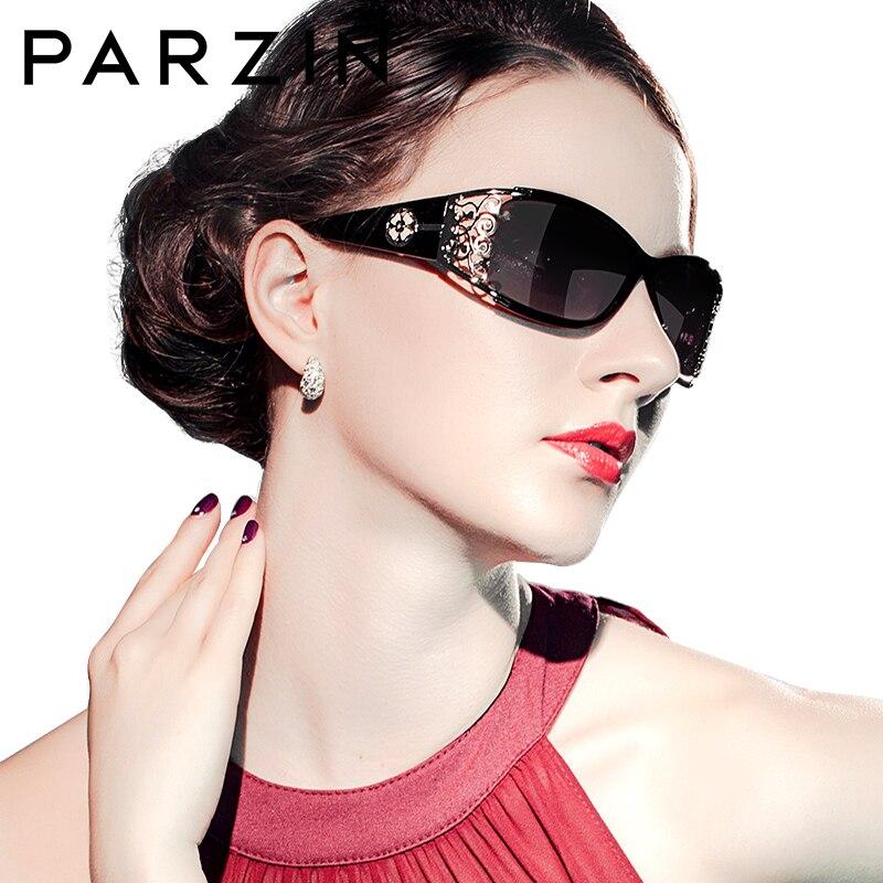 PARZIN Luxury Brand Vintage Sunglasses Women Polarized Ladies Sun Glasses For Women Hollow Lace Feminine Glasses For Driving