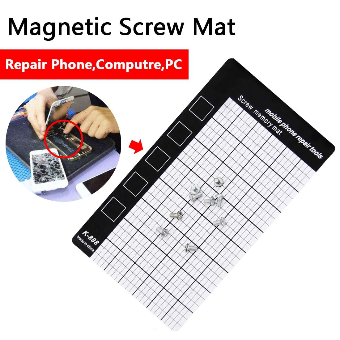 Magnetic Working Pad 145 x 90mm Hand Tools Magnetic Screw Mat Memory Chart Work Pad Mobile Phone Repair ToolsMagnetic Working Pad 145 x 90mm Hand Tools Magnetic Screw Mat Memory Chart Work Pad Mobile Phone Repair Tools