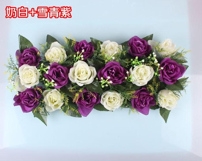Свадебная композиция Свадебные Искусственные Свадебные шелковые розы арки цветочное свадебное украшение ряд цветов рамка с цветами 10 шт./партия - Цвет: FD06