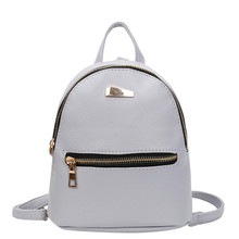 Fashion Women Mini Backpack PU Leather College Shoulder Satc