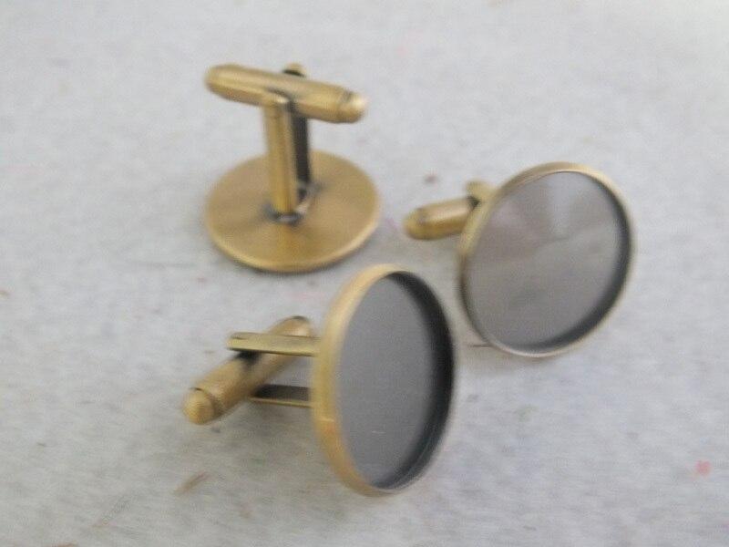 Cufflinks Jewelry Shirt Men French Mens Business for 25mm Z-3237 Bronze Antique