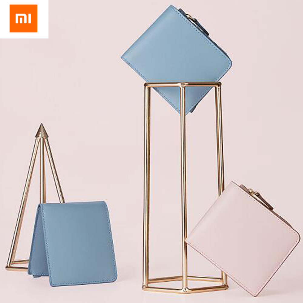 Original Xiaomi UREVO Leather Wallets Full Griand Genuine Soft Purse for Woman Stylish Compact Card Holder