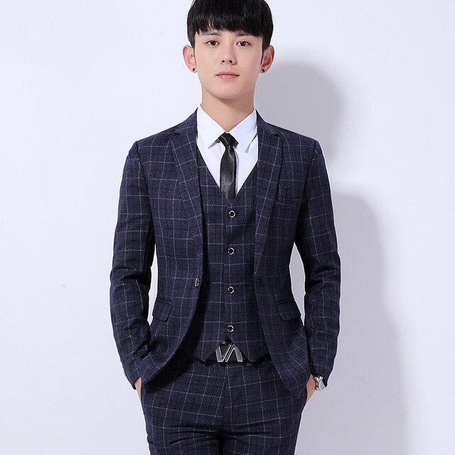 67dc0efa78fb24 2017 Men's Slim Fit Groom Tuxedos Suit Jacket Formal Dress Men Suit Set Men  Wedding Suits