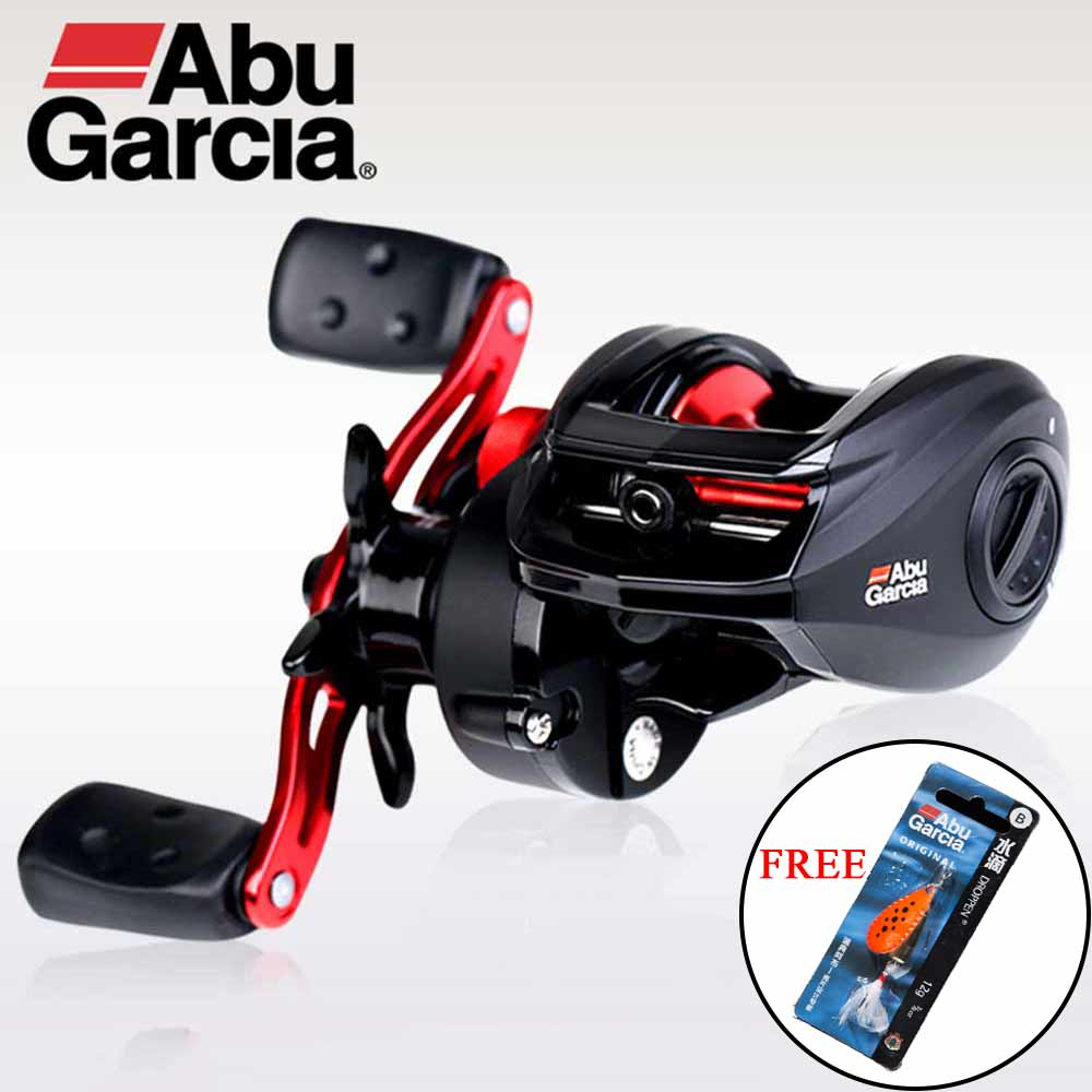 Abu Garcia Black Max Low Profile Baitcast Reel BMAX3 Water Drop Reels Right/ Left Aluminum Spool Fishing Reel Max Drag 8kg цена