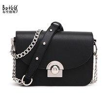 BRIGGS torebki damskie znane marki kobiety torba łańcuchy PU skóra kobiety torba na ramię moda małe torby klapowe bolsos mujer