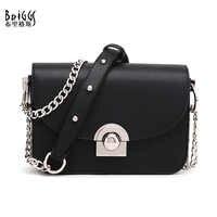 Briggs bolsas femininas famosa marca feminina saco do mensageiro correntes de couro do plutônio bolsa de ombro feminina moda pequenos sacos aleta bolsos mujer