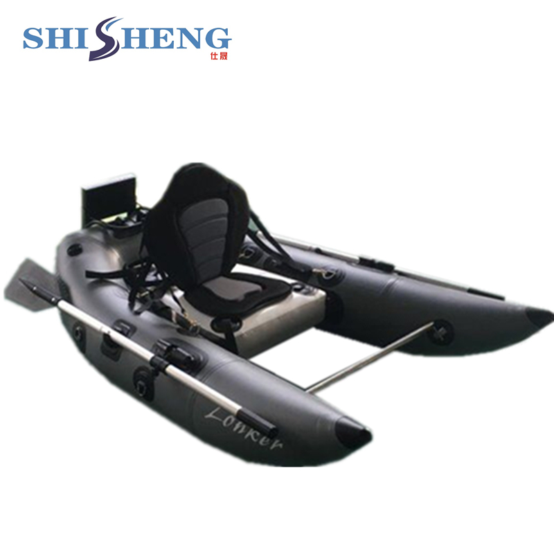 2018 bateau de pêche populaire de bateau de tube de flotteur gonflable de vente chaude pour une personne/petit dériveur en caoutchouc