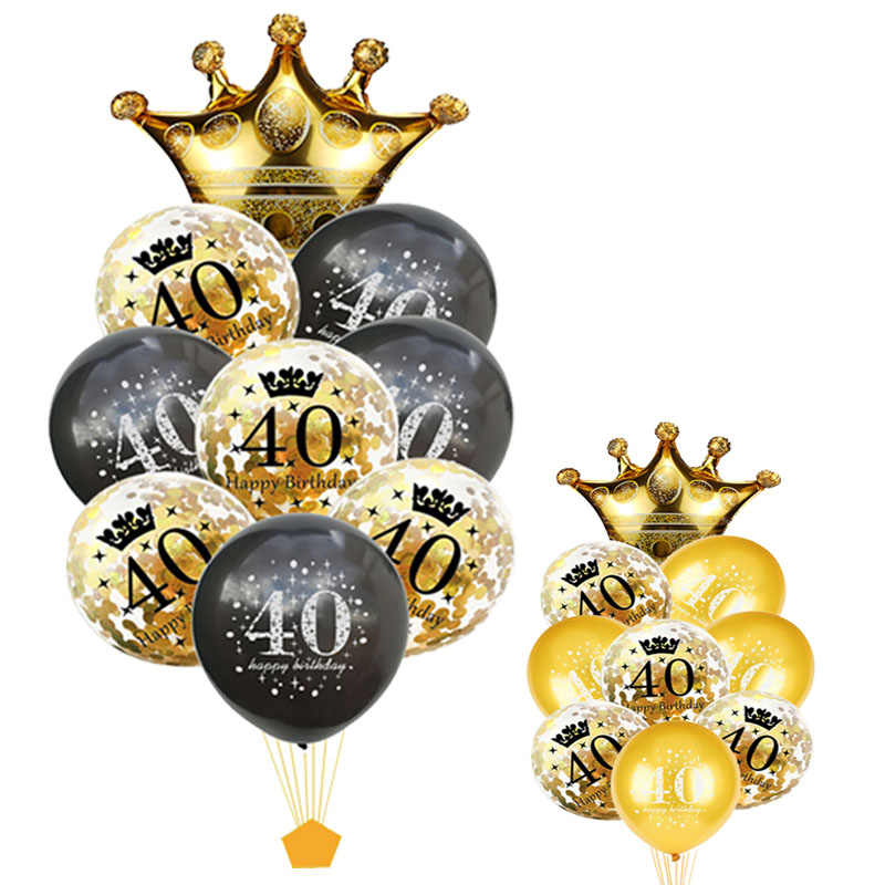 40 Birthday Balloons Party 40th ballon birthday Party Decorations Adult Baloon Inflatable Deco 40 Years Globos 40th XN