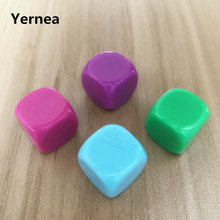 10Pcs/Lot 16mm Blank Dice Acrylic Rounded Corners Hexahedron Colour Can Write Originality DIY Set Yernea