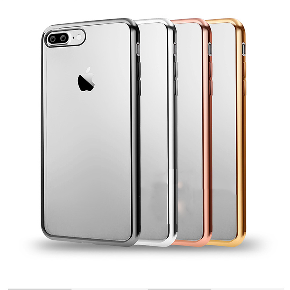 0ff420f7d54 Back Cover For Apple Iphone 7 Plus Soft TPU Case Ultra Thin Rose Gold  Plating Crystal Clear Cases For Iphone 7 Plus Case