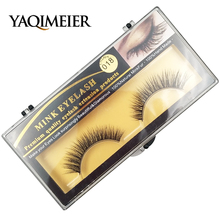 Short Mink Lashes 3D Mink False Eyelashes Long Lasting Lashes Natural Lightweight Mink Eyelashes Clear Packaging 1Pair