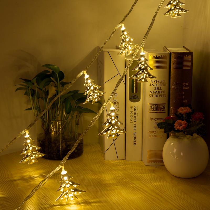 LMID 16.4FT Novelty LED Fairy Lights Metal String Christmas lights for Festival Wedding Party Home Decoration Lamp