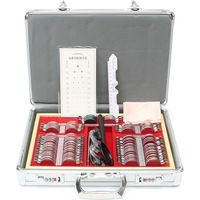 104Pcs Optical Lens Optometry Box Case Kit W Free Optometry Test Trial Frame