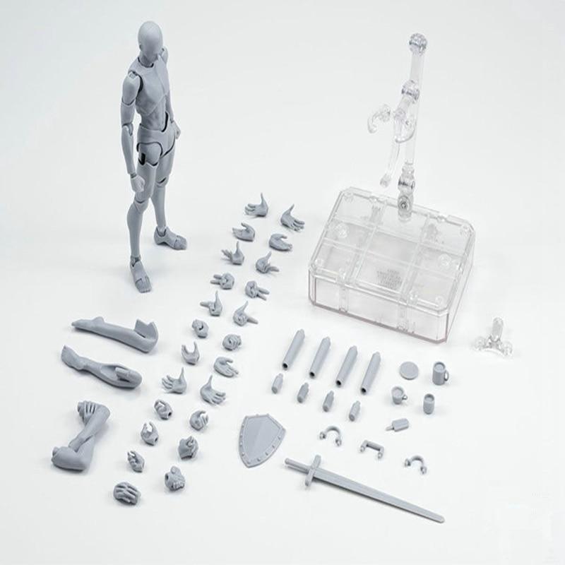 Urform Er Sie Ferrit Figma Beweglichen Körper SHF Figma Feminino Kun Körper Chan PVC Action Figure Sammeln Modell Puppe Junge geschenk