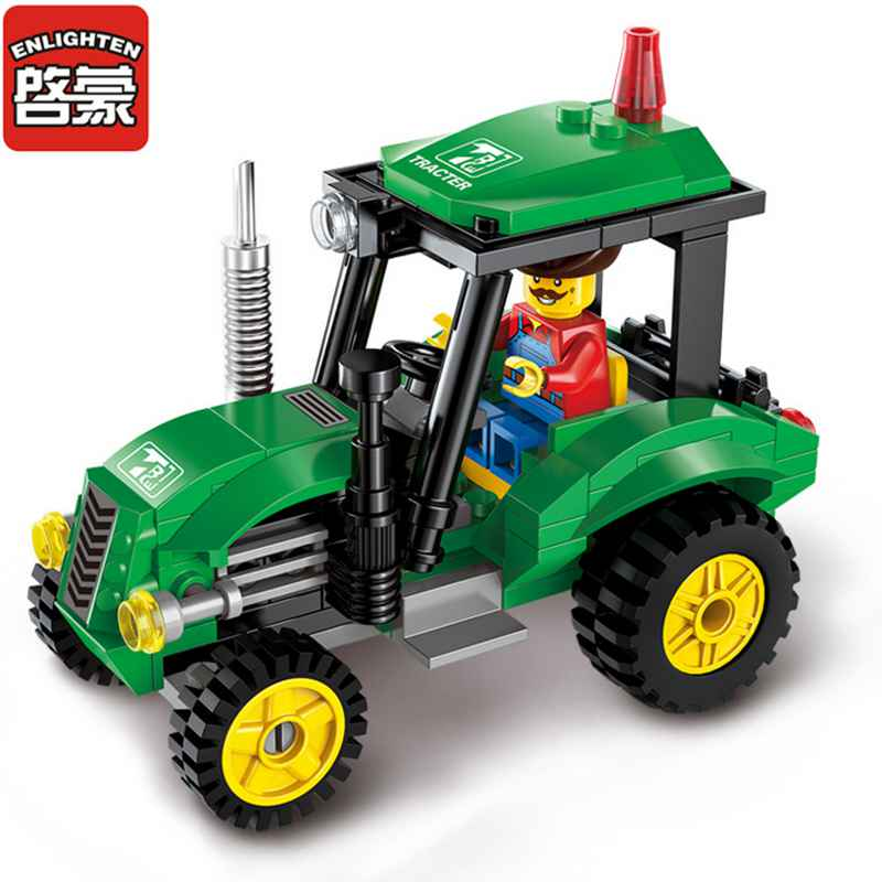 Tractor Toys For Boys : Enlighten city engineering tractor car blocks toys for
