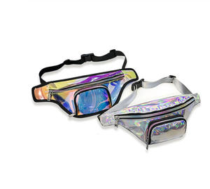 Bum-Bag Fanny-Pack Laser Punk Transparent Black Women New Silver PVC Girl Rainbow Lady