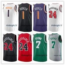 PRHSCRD 2018/19 New Basketball Shirt 1 Devin Booker 7 Jaylen Brown 24 Lauri Markkanen 30 Curry Mens Kids Basketball Jersey