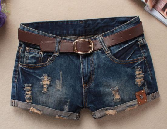 Hot 2016 Verão Calções Mulheres Clube Shorts jeans Do Vintage Sexy Hip Hop Crânio Remendo Plus Size Rasgado Calções Sem cinto