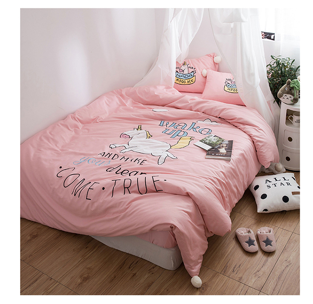 Buy princess girl unicorn 60s long staple - Housse de couette disney princesse ...