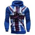 Novas Camisolas Dos Homens A Quem Bandeira Impressa Velo Capuz Hoodies Homens Top Marca de Moda Homens Outwear Roupas Plus Size M-4XL