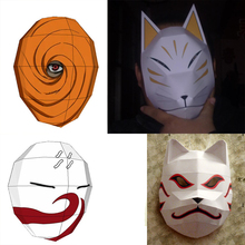3D Paper Model Anime NARUTO Scale 1 1 Masks DIY Handmade Toys For Cosplay Game 4