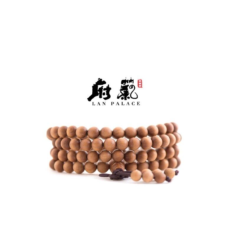 Inde myplaie Laoshan bois de santal Vintage 6 MM 108 mascotte prière bois perles bouddha bracelet bijoux accessoires livraison gratuite
