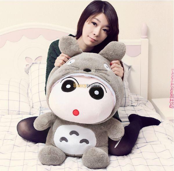 Fancytrader 31\'\' 78cm Giant  Funny Stuffed Soft Plush Totoro Crayon Shin-chan, Free Shipping FT50395 (2)