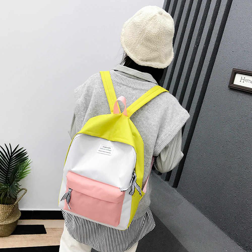 Fashion Wanita Ransel Leisure Kembali Pack Korea Wanita Ransel Perjalanan Santai Tas Anak Perempuan Klasik Bagpack Mochila Feminina *