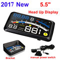 ActiSafety 2017 HUD Head up Car Projector Car Styling Reader Speed Self-adaptive Car Fuel etc Parameter Display Alarm System