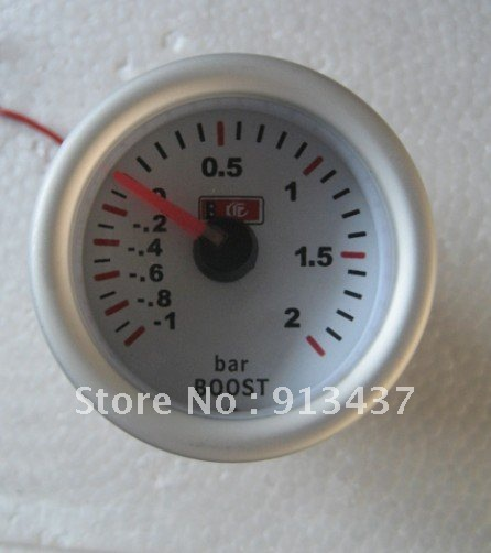 """2""""52mm Blue LED BAR BOOST TUNNING METER decoration Car accessories LED7707"""