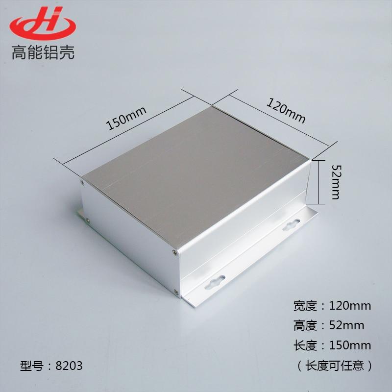 1 Piece Aluminum Housing Case For Electronics Project Case 52H)x120(W)x130/150/155(L) Mm 8203