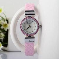 Nowe Stylowe Kobiety Luksusowe Moda Kryształy Sukienka Zegarki Mały Rozmiar Koreańskich Dziewcząt Patent Leather Wrist watch Quartz Relojes S025